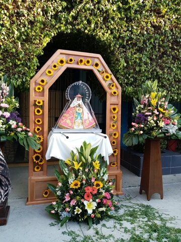 Visit of the holy mother Mary