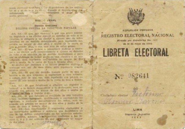1º Libreta Electoral