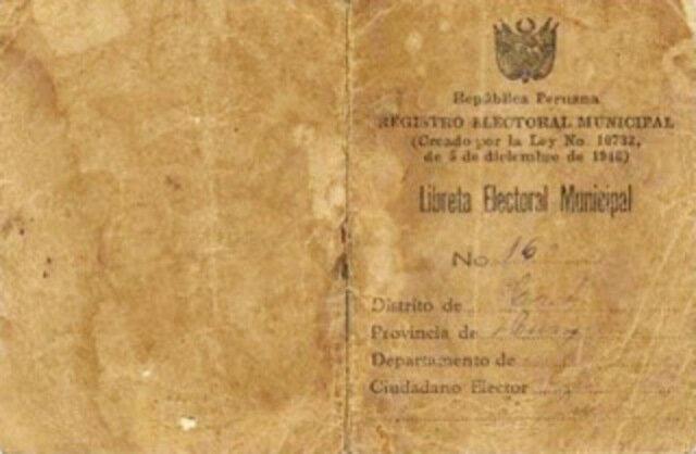 Libreta Electoral Municipal