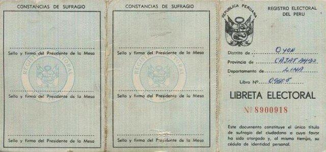 Libreta Electoral de 7 dígitos