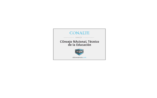 CONALTE