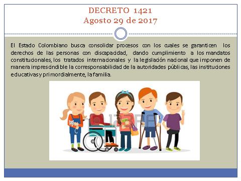 Decreto 1421 del 29 de agosto de 2017