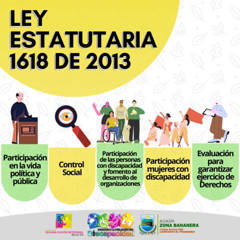 Ley estatutaria 1618 del 2013