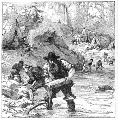 """El """"Gold Rush"""" del Oeste de los Estados Unidos"""