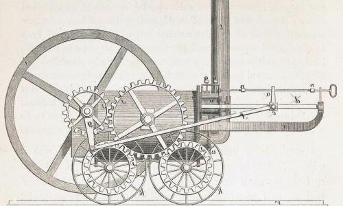 Primera locomotora a vapor