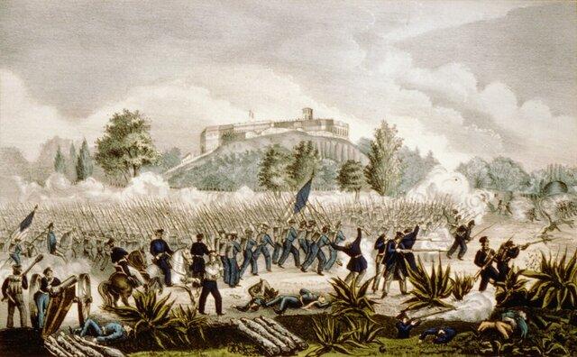 Caída del Castillo Chapultepec