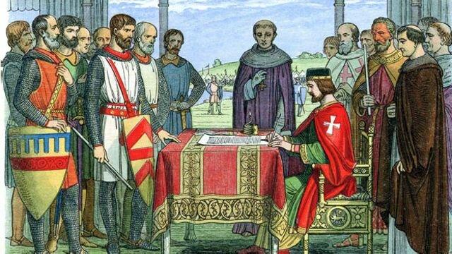 CARTA MAGNA  O GRAN CARTA (INGLATERRA, 1215))