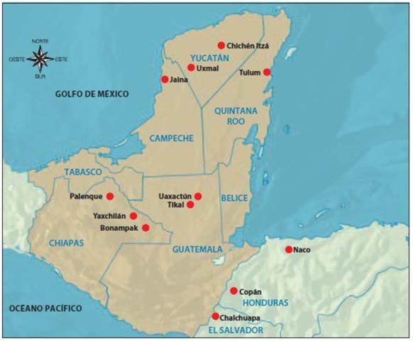 Ubicación Geográfica Maya