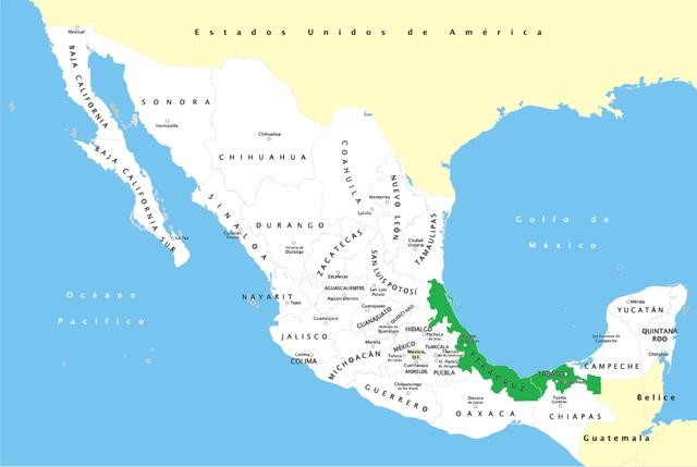Ubicación Geográfica Olmeca