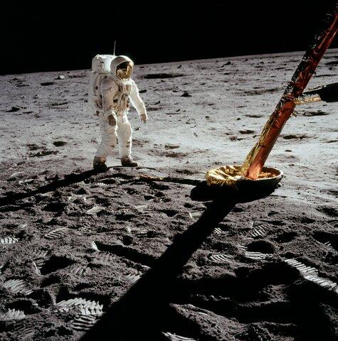 Erste bemannte Mondlandung der NASA