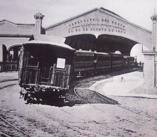 Inaguración del Ferrocarril del Oeste