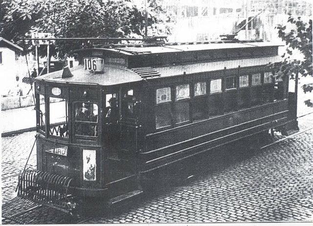 Aparición de los primeros tranways eléctricos