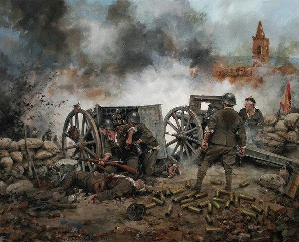 Caída de Belchite en manos de las fuerzas republicanas