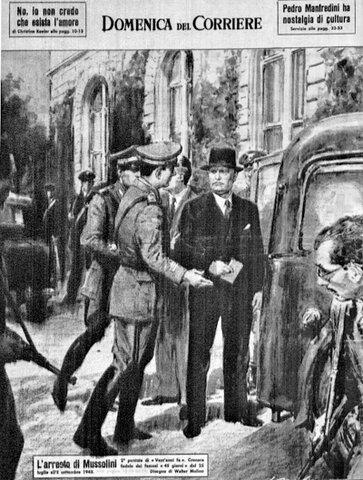 Benito Mussolini destituito