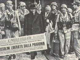 Badoglio si arrende. I tedeschi assumono immediatamente il controllo di Roma e dell'Italia settentrionale e istituiscono uno stato fantoccio Fascista guidato da Mussolini, il quale era stato liberato il 12 settembre da un commando tedesco
