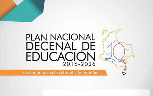 Plan Nacional decenal de educación Nacional 2016-2026