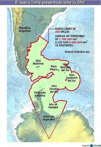 Plataforma continental y las Islas Malvinas
