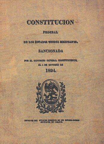 Se promulga la Constitución de 1824 y entra en vigor.