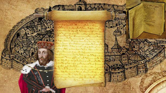 """La Carta Magna, o """"Gran Carta"""", firmada por el Rey de Inglaterra en 1215, fue un punto de inflexión en los derechos humanos."""