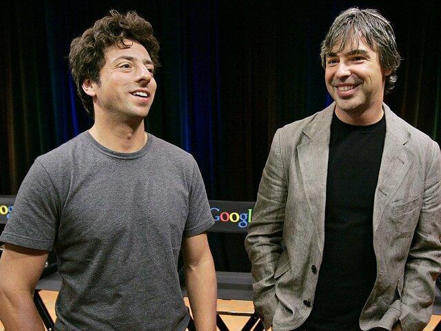 Larry Page y Serguéi Brin