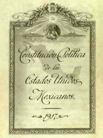 Constitución Federal de los Estados Unidos Mexicano, 1917