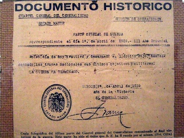 Parte final de la Guerra Civil Española