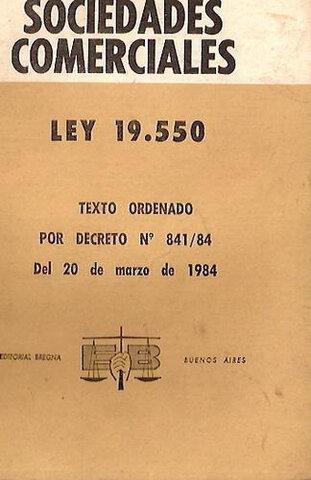 1972, Sanción de Ley 19.550