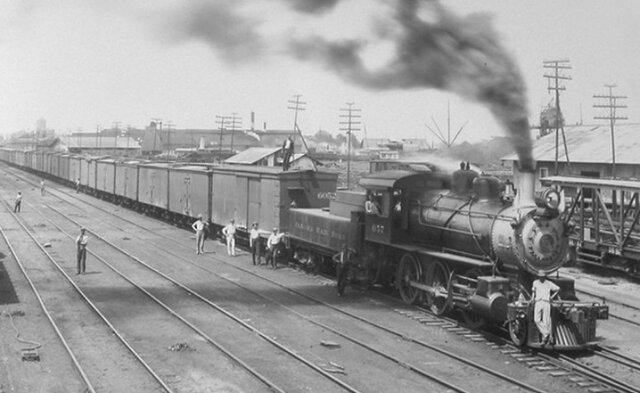 Ferrocarril en el Istmo de Panamá.