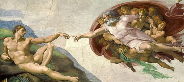 La creación de Adán - Miguel Angel
