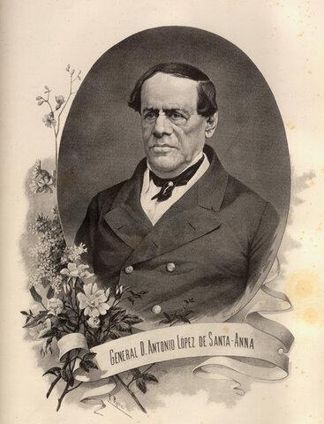 """Después de 5 periodos presidenciales, Santa Anna se convierte en dictador y se hace llamar """"Alteza serenísima""""."""