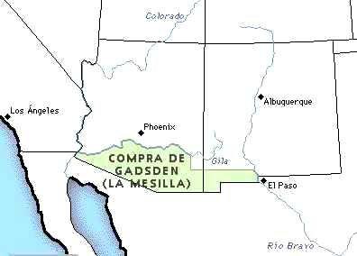Santa Anna vende La Mesilla a Estados Unidos con un enorme costo político.
