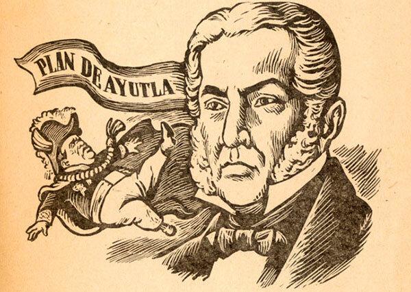 Santa Anna es exiliado.