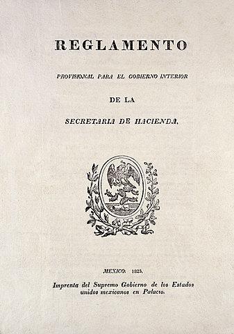 Decreto del Primer Reglamento de Rentas (Época Independiente)