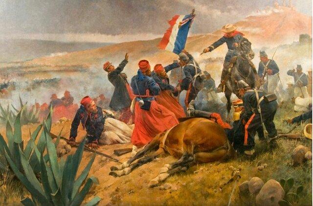 Francia interviene en México y es vencido en Puebla.