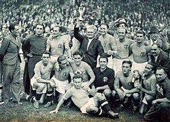 Campeón Italia del mundial: Francia 1938
