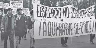 El movimiento estudiantil de 1968 en México.