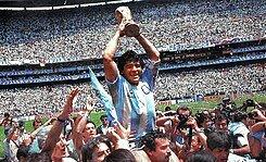 Campeón Argentina del mundial: México 1986