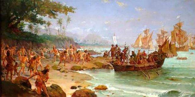 Inici de l'arribada dels Portuguesos a Amèrica