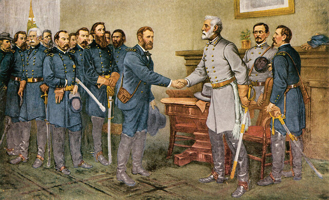 The Treaty at Appomattox Courthouse