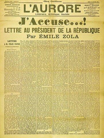 «J'accuse»