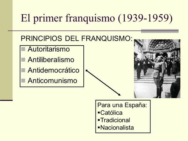 Los principios en los que se cimento el Régimen de Franco.