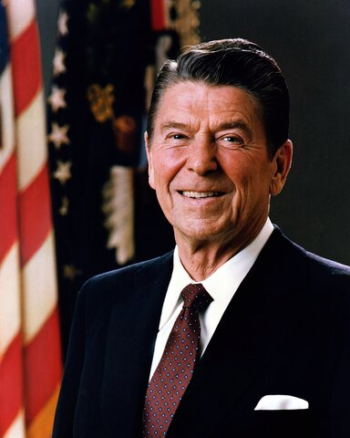 Ronald Reagan ble president