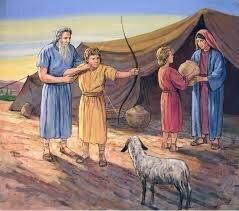 Isaac tiene dos hijos Isau y Jacob