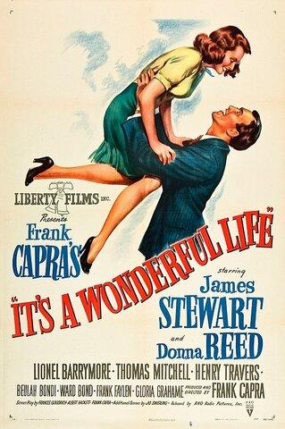 ¡Qué bello es vivir! (It's a Wonderful Life) por Frank Capra.