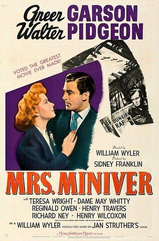 La señora Miniver por William Wyler.