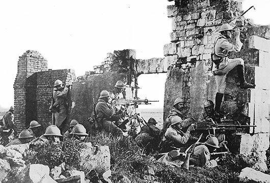 Första världskriget slutar