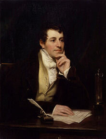 The first arc lamp, Sir Humphry Davy