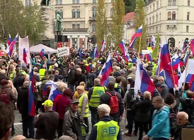 Proteste nella Slovenia tedesca per l'indipendenza