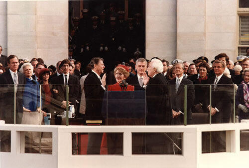 Ronald Reagan Is Inaugurated As The 40th President