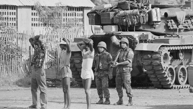 U.S. Invades Caribbean Island of Grenada After A Coup By Marxist Faction In The Government